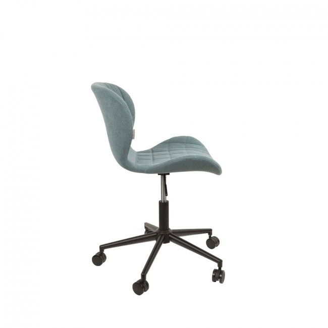 Chaise de bureau design OMG bleu de profil