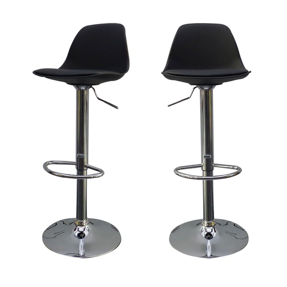 Lot de 2 tabourets de bar design orlando de for Tabouret pour ilot