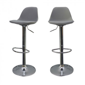 Lot de 2 tabourets de bar design Bobba