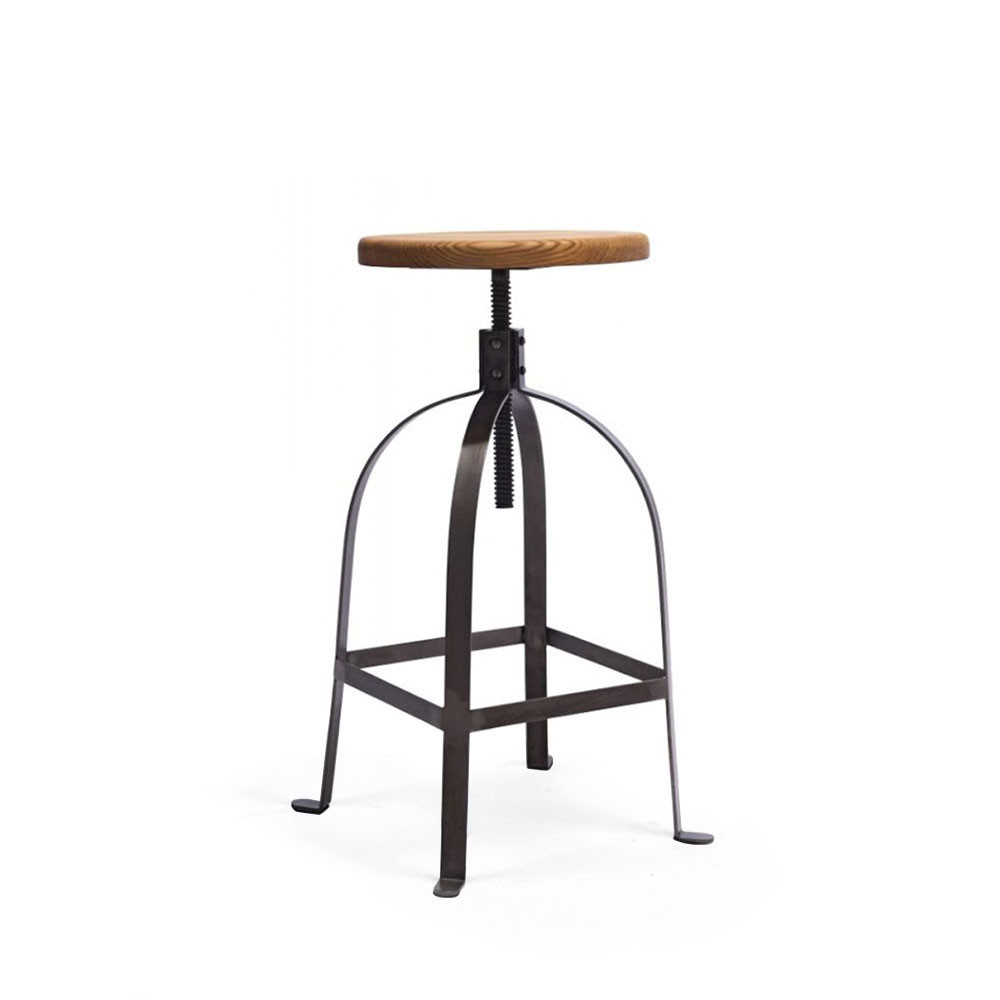 tabouret de bar industriel vis henri ford par. Black Bedroom Furniture Sets. Home Design Ideas