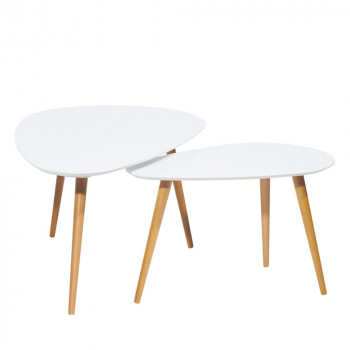 Lot de 2 tables basses scandinave Droppy