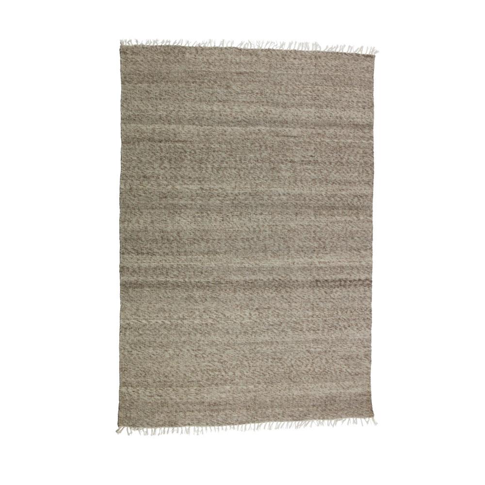 tapis ray en laine et coton marron fields drawer. Black Bedroom Furniture Sets. Home Design Ideas