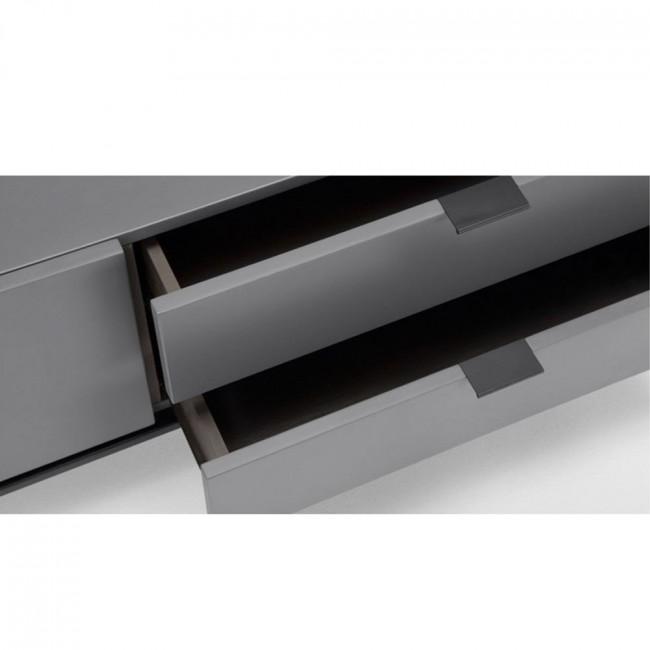 Buffet laqué 1 porte 4 tiroirs design Adrian