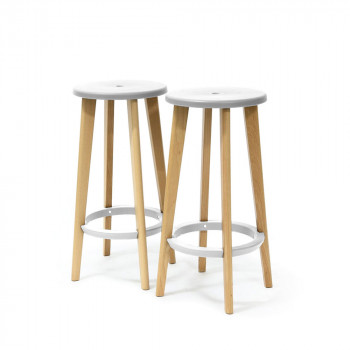 Excellent Lot De Tabourets De Bar Cm Harryus Blanc With Fabriquer Un Tabouret De Bar En Bois