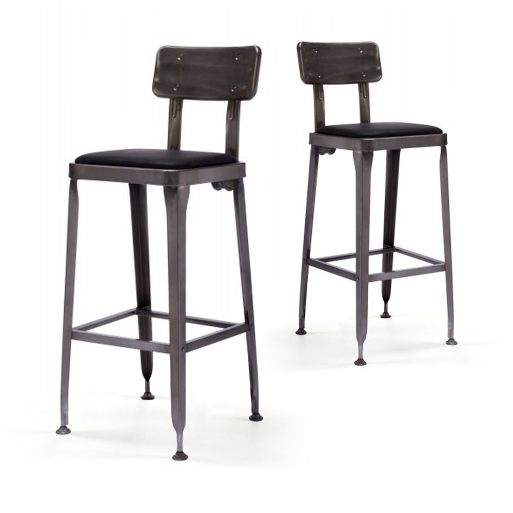 tabouret de bar industriel style starbuck benvenuto par. Black Bedroom Furniture Sets. Home Design Ideas