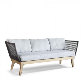 Canap 2 places cuir montreal by modalto drawer - Canape jardin bois ...