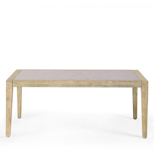 Table basse de jardin bois et superstone Mékong