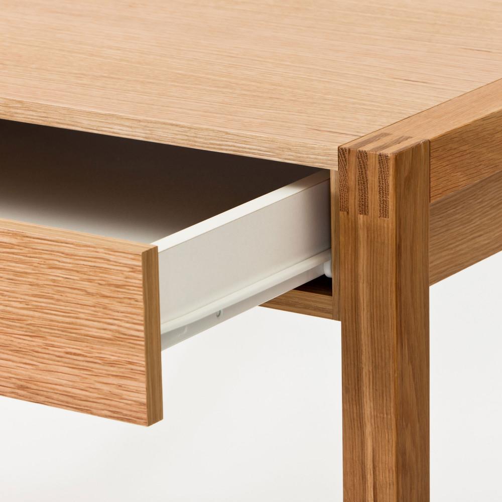 bureau en ch ne tiroir et niche newest drawer. Black Bedroom Furniture Sets. Home Design Ideas