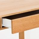 Bureau en chêne tiroir et niche NewEst détails 1