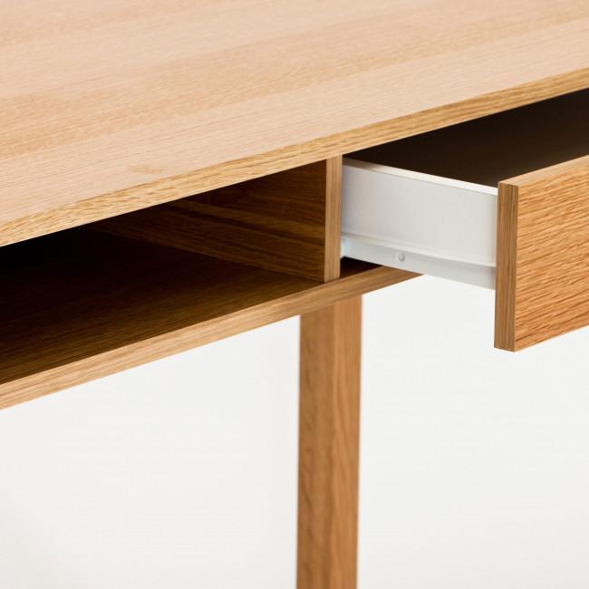 Bureau en chêne tiroir et niche NewEst détails 2