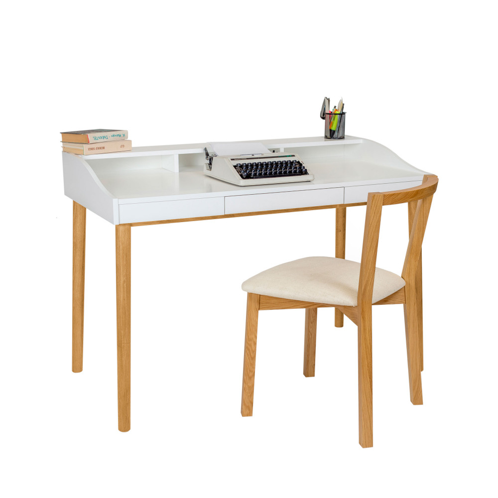 bureau design scandinave ch ne et laque lindenhof drawer. Black Bedroom Furniture Sets. Home Design Ideas