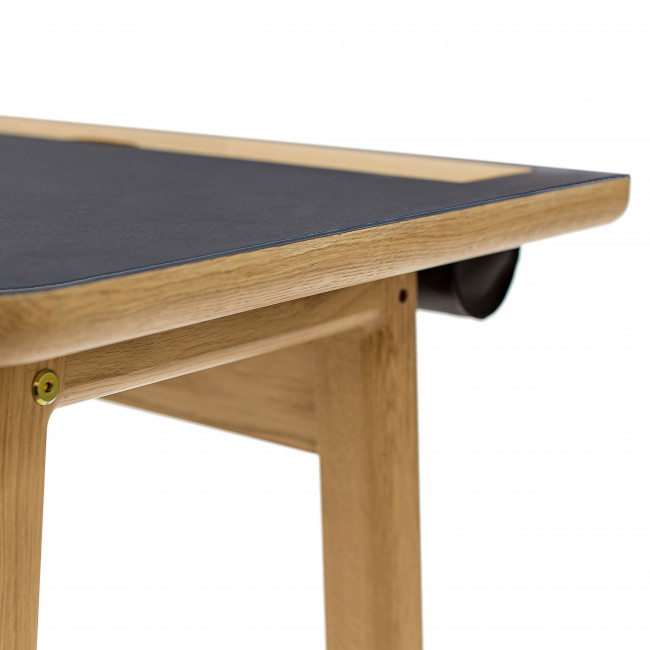 Bureau design scandinave bois et linoléum Kota