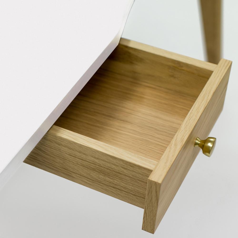 Bureau en bois 2 tiroirs nice desk drawer for Table de bureau en bois