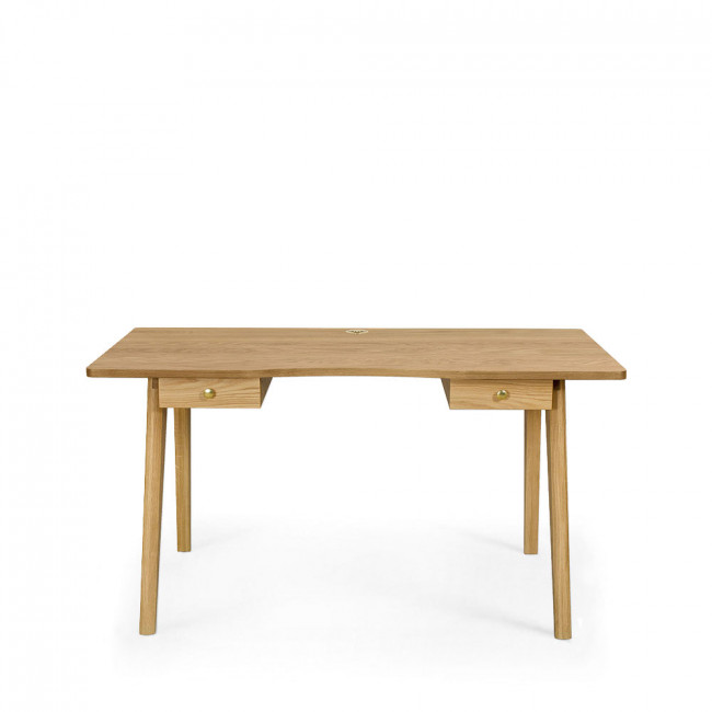 Bureau en bois 2 tiroirs Nice Desk