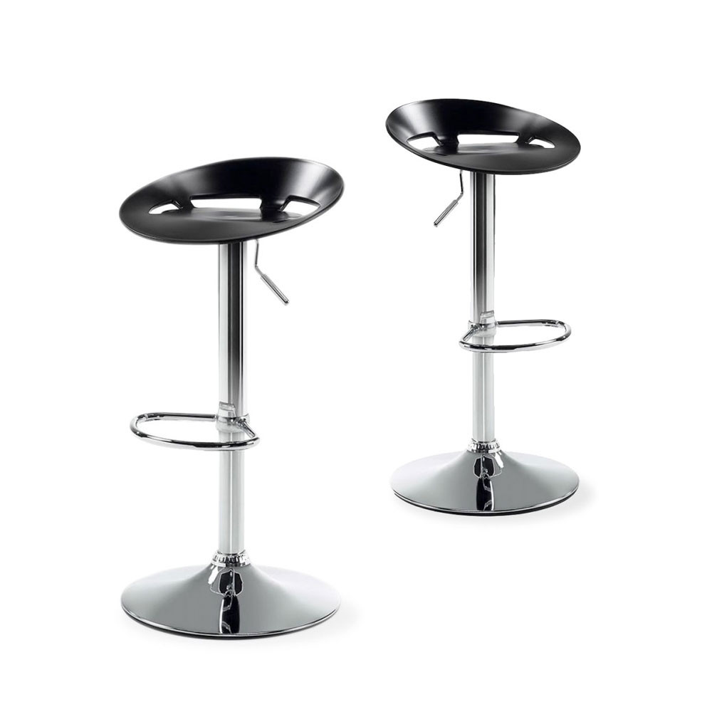 lot de 2 tabourets de bar plato noirs ou blancs by. Black Bedroom Furniture Sets. Home Design Ideas