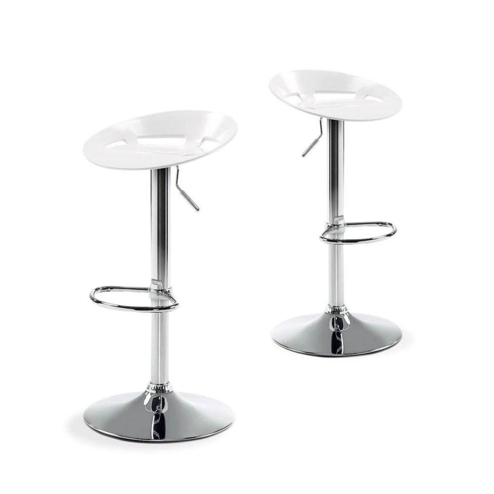 lot de 2 tabourets de bar plato noirs ou blancs by. Black Bedroom Furniture Sets. Home Design Ideas