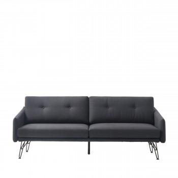 Canapé 3 places convertible tissu et métal Burton
