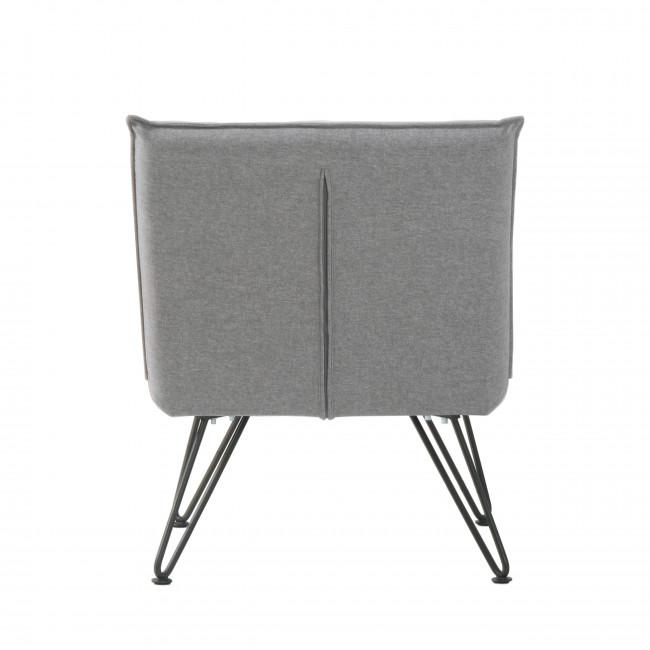 Fauteuil design tissu gris Fletcher