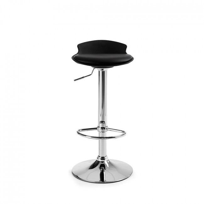 Lot de 2 tabourets de bar design Uma One noir