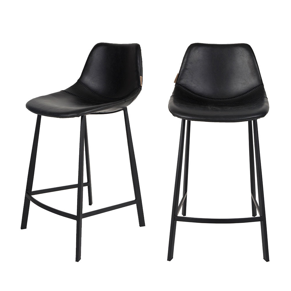Lot de 2 tabourets de bar vintage franky dutchbone for Chaise tabouret