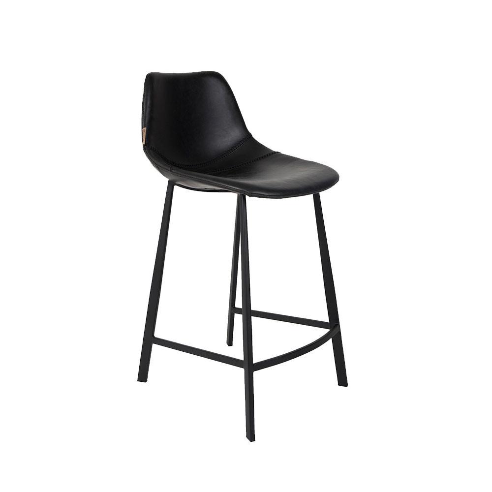 tabouret vintage hauteur 65cm look cuir franky dutchbone. Black Bedroom Furniture Sets. Home Design Ideas