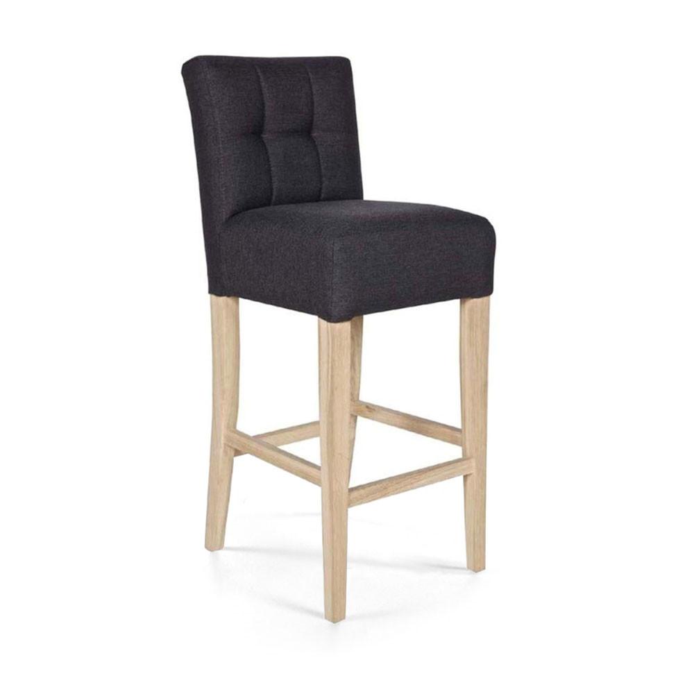 chaises hautes bar good tabouret chaise de bar design noire et bois naturel nordeco miliboo. Black Bedroom Furniture Sets. Home Design Ideas