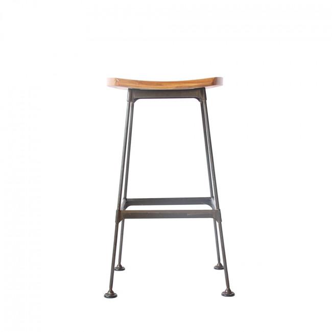 Tabouret métal et bois lounge Stork