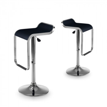 Lot de 2 tabourets de bar design Las Vegas noir