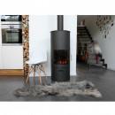 Lot de 2 chaise design scandinave bois métal Nielsen blanc