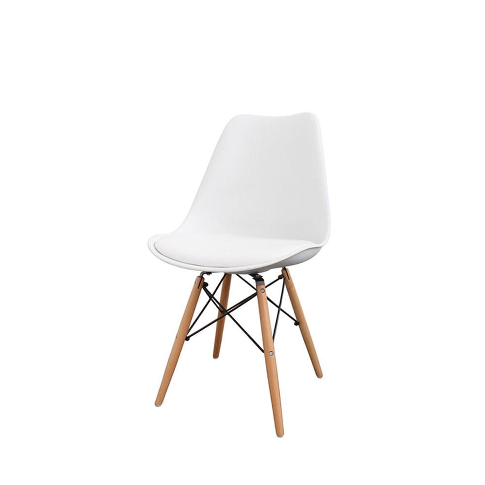 Lot de 2 chaises design nielsen par for Chaise noire et bois