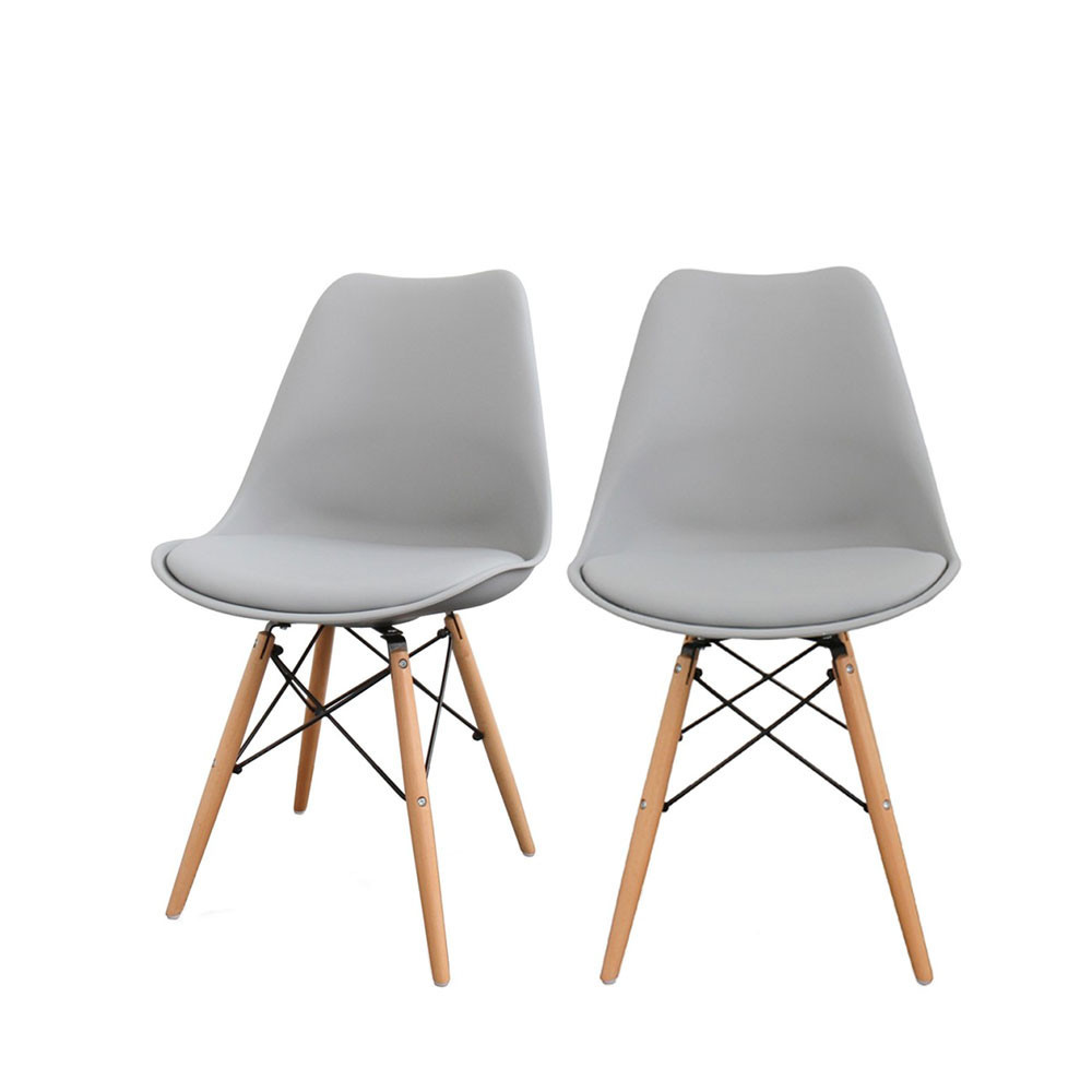 lot de 2 chaises design nielsen par