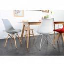 Lot de 2 chaise design scandinave bois métal Nielsen gris