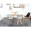 Lot de 2 chaise design scandinave bois métal Nielsen noir