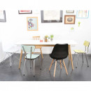 Lot de 2 chaises design Nielsen Steel blanc