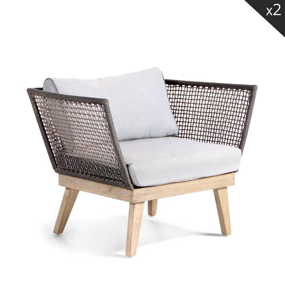 Salon de jardin lounge en bois m kong drawer for Fauteuil salon de jardin en bois