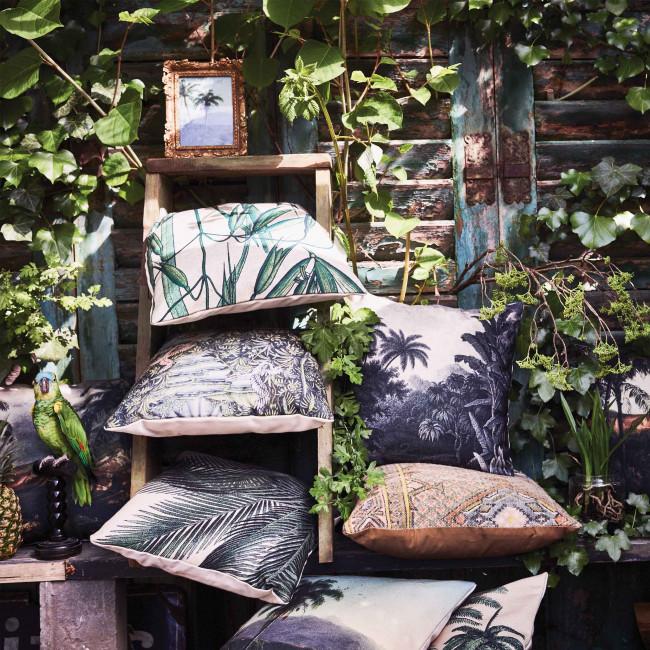 Coussin imprimé bambou indoor/outdoor Yassi