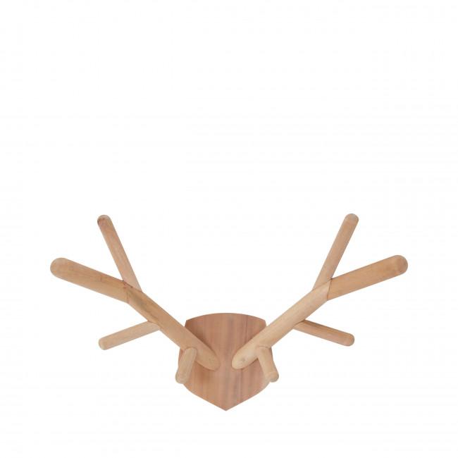Porte manteau tête de cerf en bois L Maho