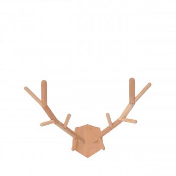 Porte manteau tête de cerf en bois XL Maho