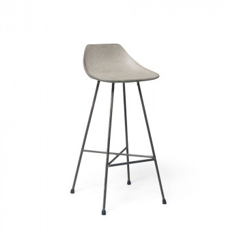 Tabouret de bar indoor/outdoor béton Hauteville