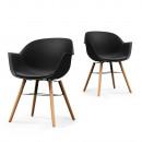 Lot de 2 chaises Wiseman noir