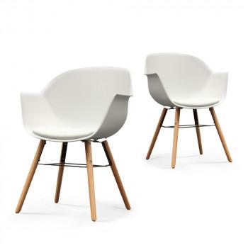 Lot de 2 chaises Wiseman blanc