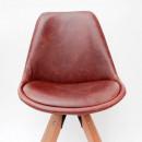 Lot de 2 chaises design simili cuir Bari Label 51