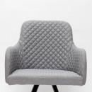 Chaise tissu et métal Tigo Label 51 Gris