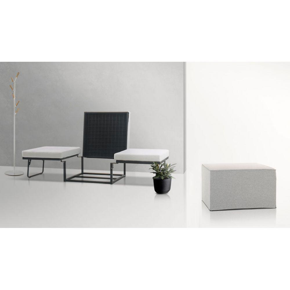 pouf lit pliant good pouf convertible lit tissu jazz. Black Bedroom Furniture Sets. Home Design Ideas