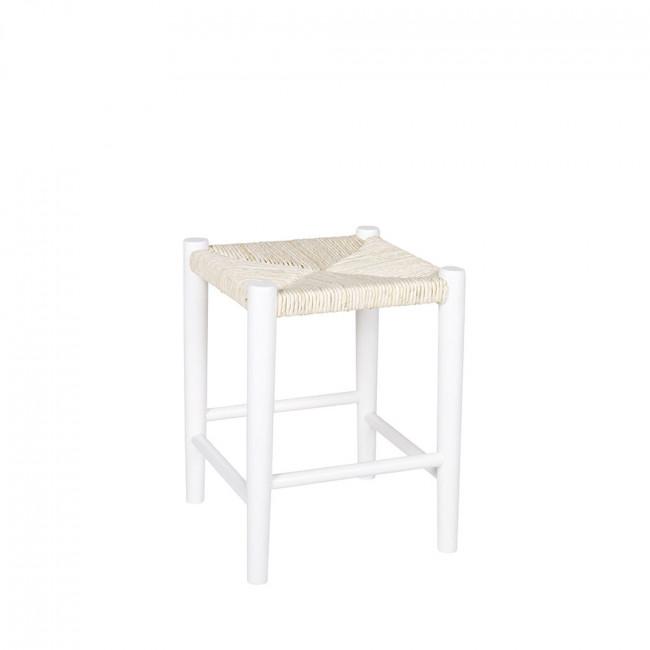 Tabouret design carré bois Riva