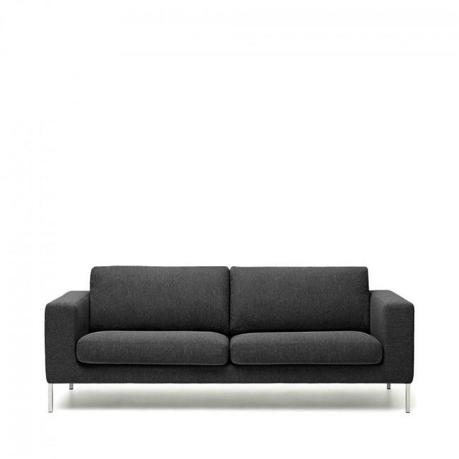 Canapé 2 places tissu et métal Biki