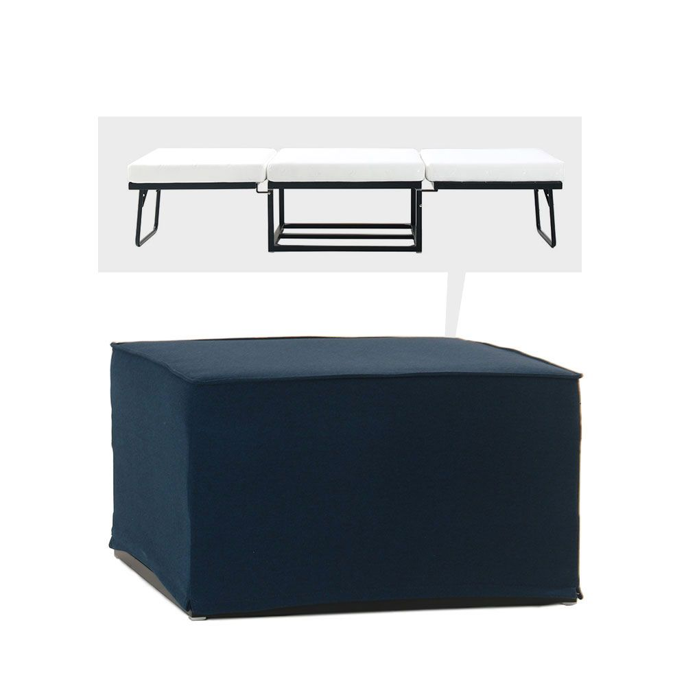 pouf convertible lit tissu jazz by drawer. Black Bedroom Furniture Sets. Home Design Ideas