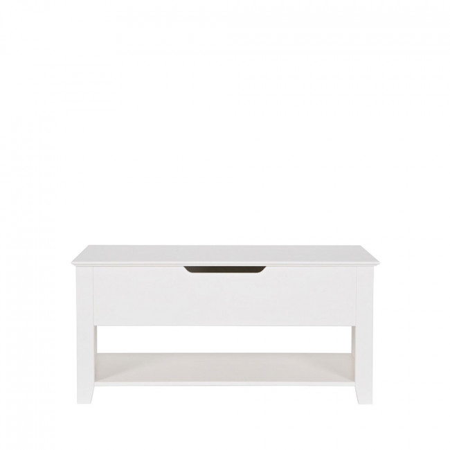 Banc design pin massif blanc Perpignan