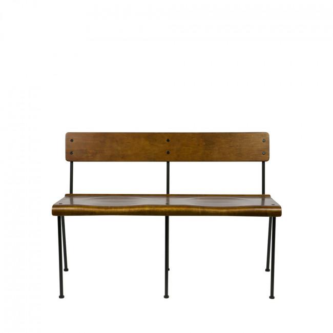 Banc design style écolier bois Teach