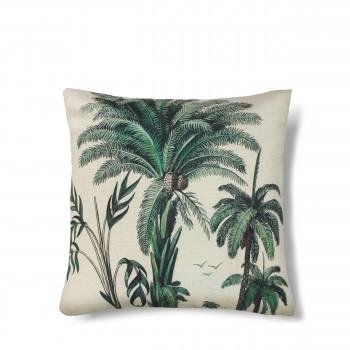 Coussin imprimé palmier Bali